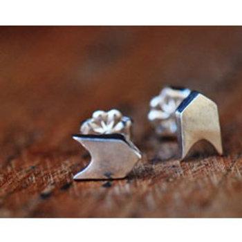 Sterling silver follow your arrow stud earrings