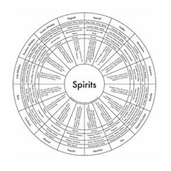 Alcohol Spirits Map Print