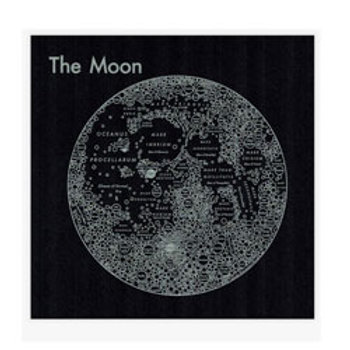 Moon Map Print