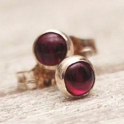 Garnet silver dot stud earrings.jpg