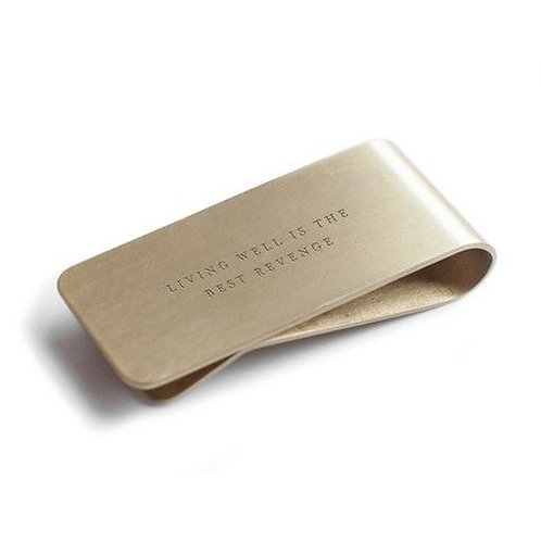 Living Well Is The Best Revenge Money Clip