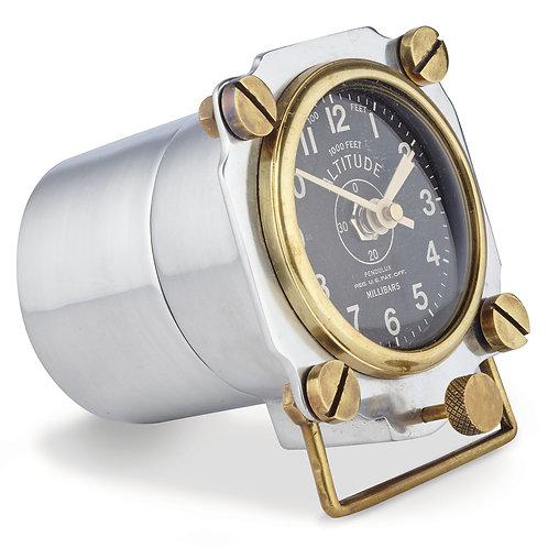 Altimeter Table Side Clock Aluminum