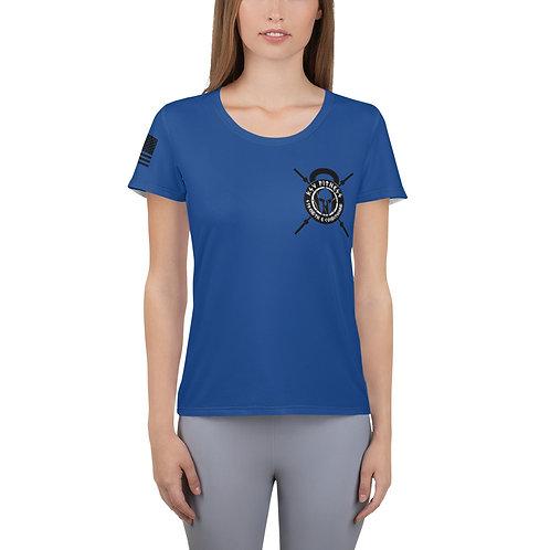 Women's Athletic T-shirt Blue Logo 2