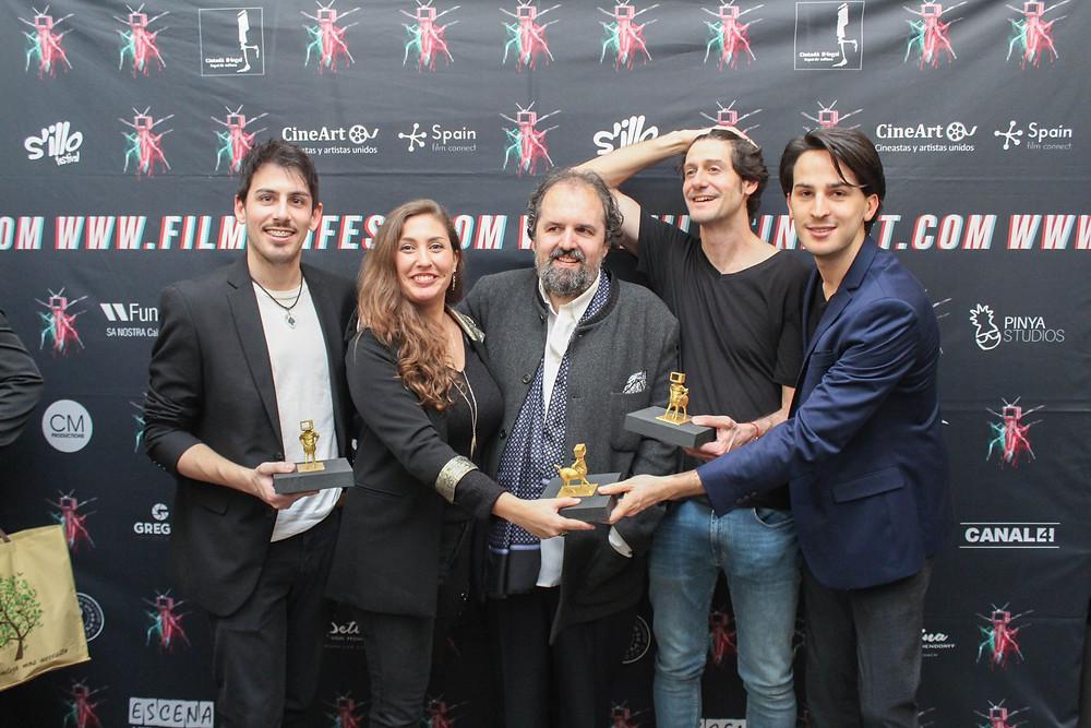 Rubén Gallardo, Cristina Francioli, Antoni Caimari, José Torresma y Marcos Callejo
