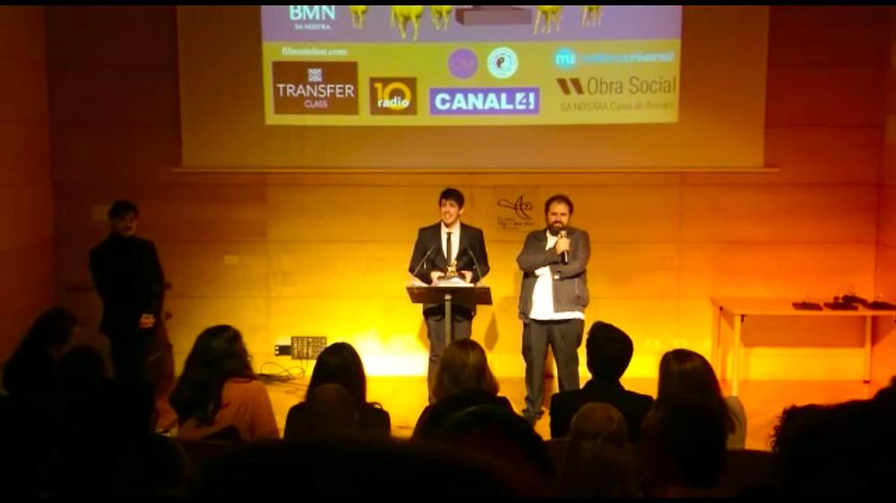 Rubén Gallardo junto con Antoni Caimari.