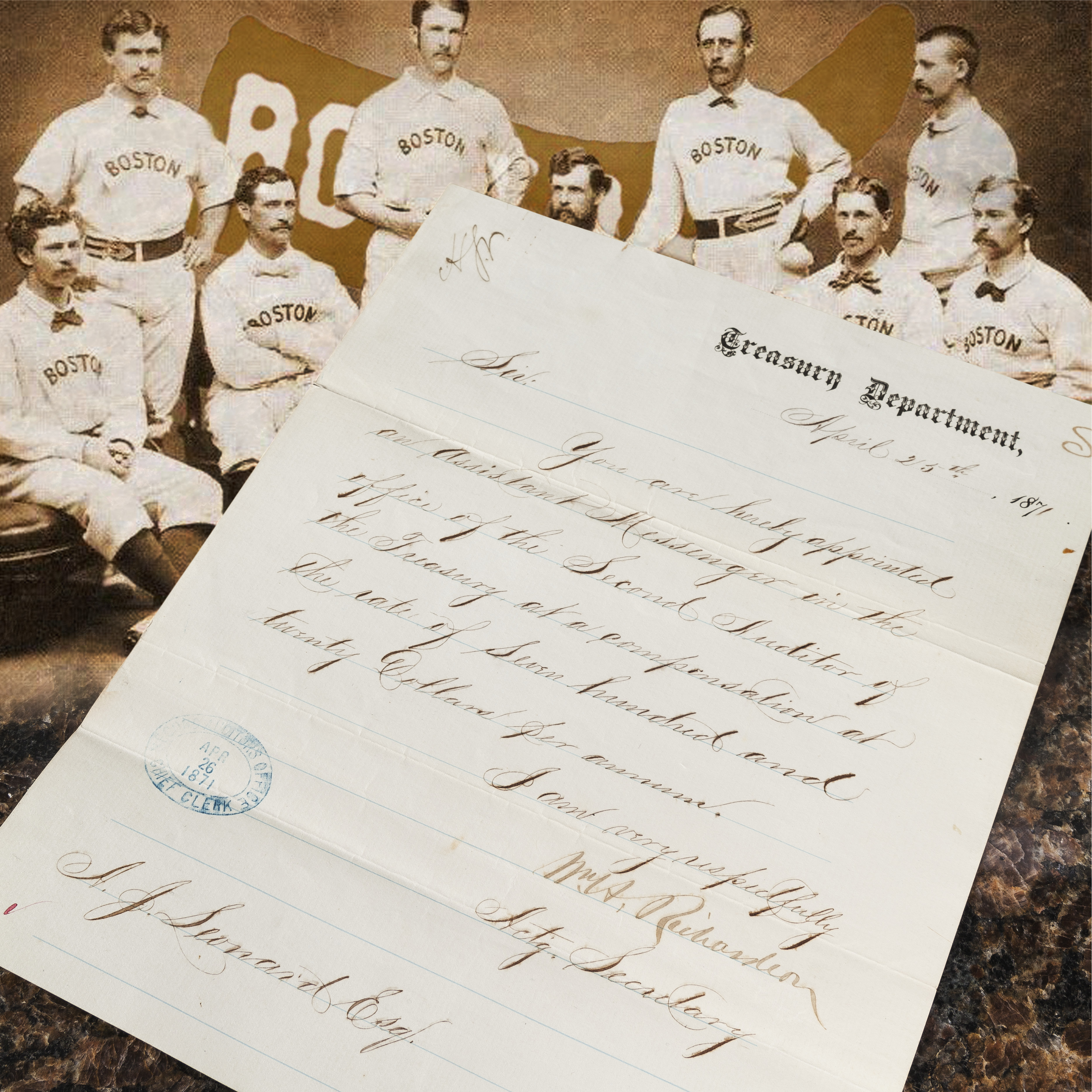 Leonard A Team letter