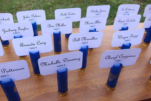 Shotgun Shell Set of 12 Wedding Place Cards