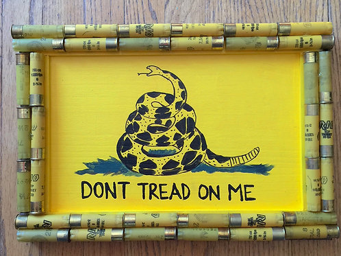 Shotgun Shell Dont Tread On Me Gadsden Flag Sign