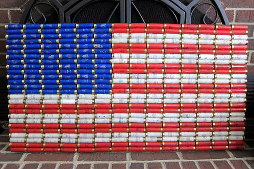 Shotgun Shell American Flag Patriotic Wall Decor