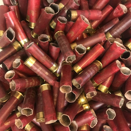 Once-Fired Burgundy Paper Federal 12 Gauge (30 Hulls) - Free Shipping