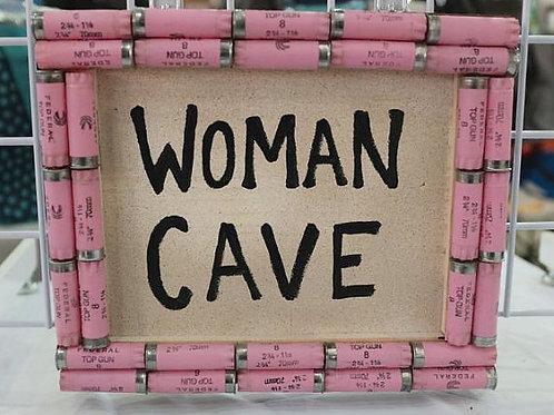 Shotgun Shell Woman Cave Sign