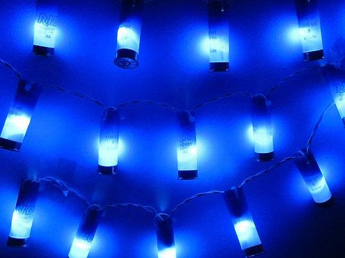 Shotgun Shell LED 20 Count Blue Light Strand