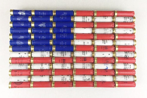 Shotgun Shell American Flag Patriotic Wall Decor Part 64