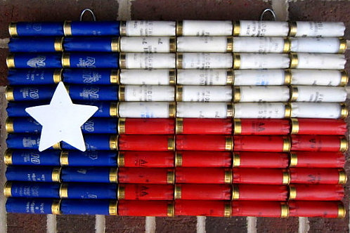 Shotgun Shell Texas State Flag Wall Decor