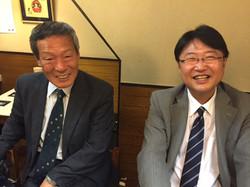 釣師 山本さん(左)、出がらしさんじゃなくって五十嵐さん(右)