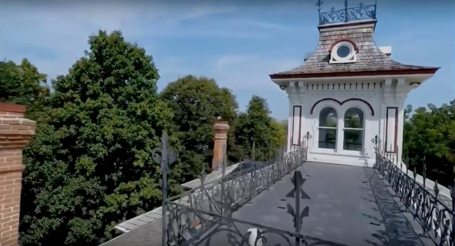 Screenshot of Belvedere as seen from a drone.