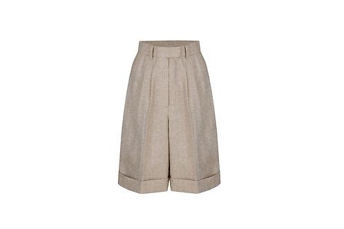 21SS W-LINEN BERMUDA PANTS