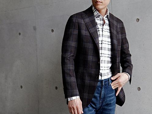 드라퍼스 클렌체크 싱글 재킷