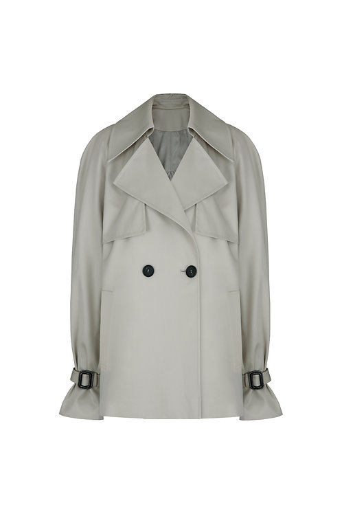 21SS W-CROP TRENCH COAT