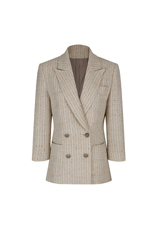 21SS W-TWEED TAILORED JACKETS