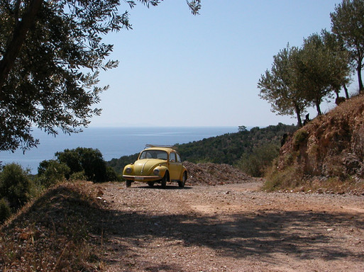 VW Beetle in the wilderness of Samos
