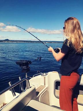 Vissen op Lake Taupo, Nieuw Zeeland