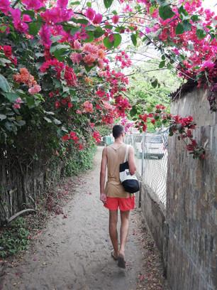 Het pad naar het strand