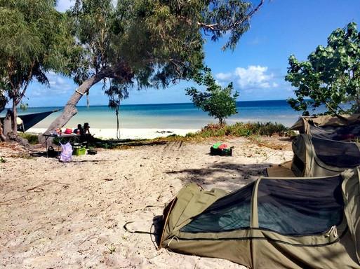 Kamperen bij Cape Flattery, Australië