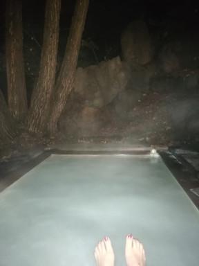 S'avonds in het 'onsen' bad