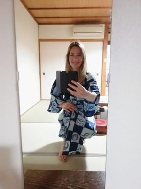 Je krijgt een kimono tijdens je verblijf :)