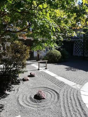 De tuin bij de entree