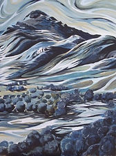 Aran mountain, Yr Aran , Llanuwchllyn, Y Bala, Bala artist, local artist, affordable paintings