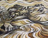 Garth Fach/ Yr aran, Llanuwchllyn, Iola Edwards, John meirion morris, welsh artist, north wales, local artist, artist lleol, Bala, bala artist, cynllwyd, Cymru, atmopheric painting, magical painting, affordable prints, affordable paintings,