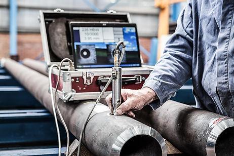 Steel ultrasound testing