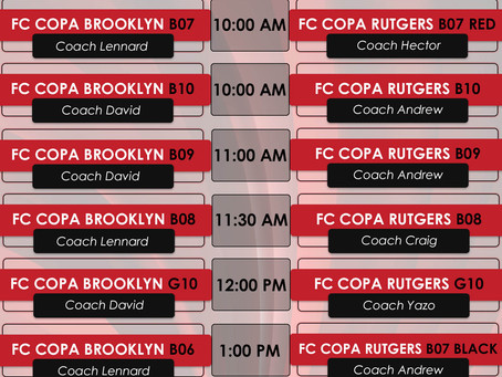 Eight FC Copa Brooklyn Founding Member Teams Play In Copa Friendlies Versus FC Copa Academy Rutgers