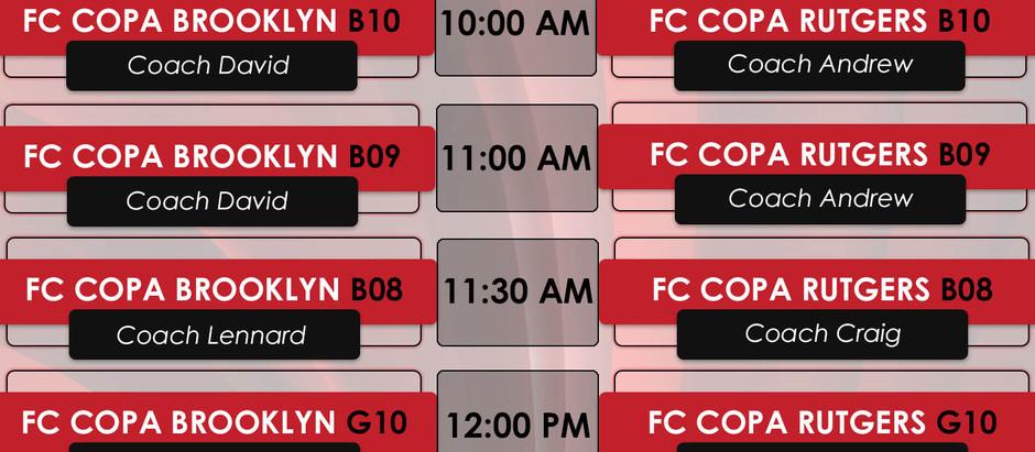 Eight FC Copa Brooklyn Founding Member Teams Play In Copa Friendlies Versus FC Copa Academy Rutgers