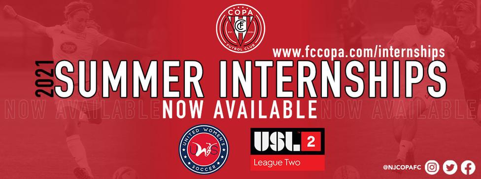 2021 NJ Copa FC Summer Internships