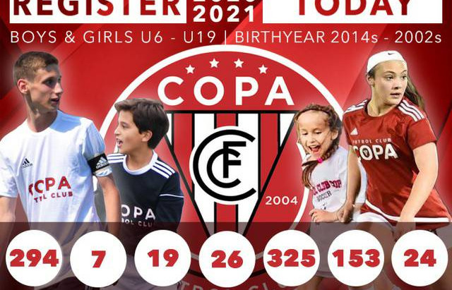 REGISTER TODAY & BECOME PART OF FC COPA!