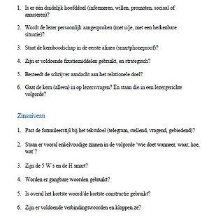 Handige checklist om teksten te redigeren.