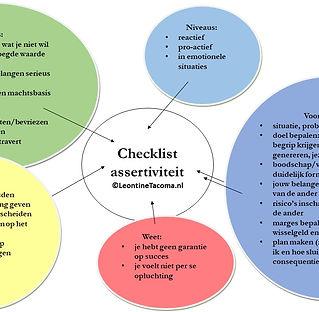 Handige checklist om assertiever te reageren.