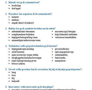 Handige checklist om een gesprek voor te bereiden.