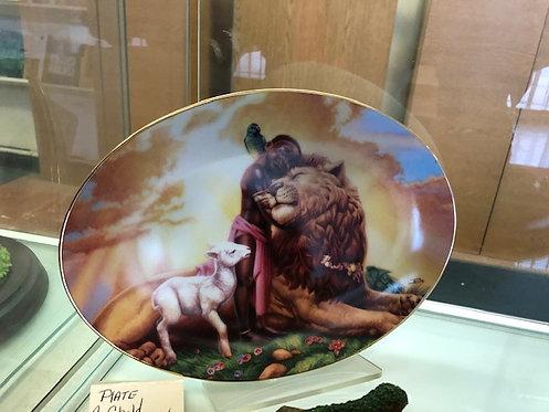 A Child Shall Lead Them Plate - RARE- Thomas Blackshear Collectible
