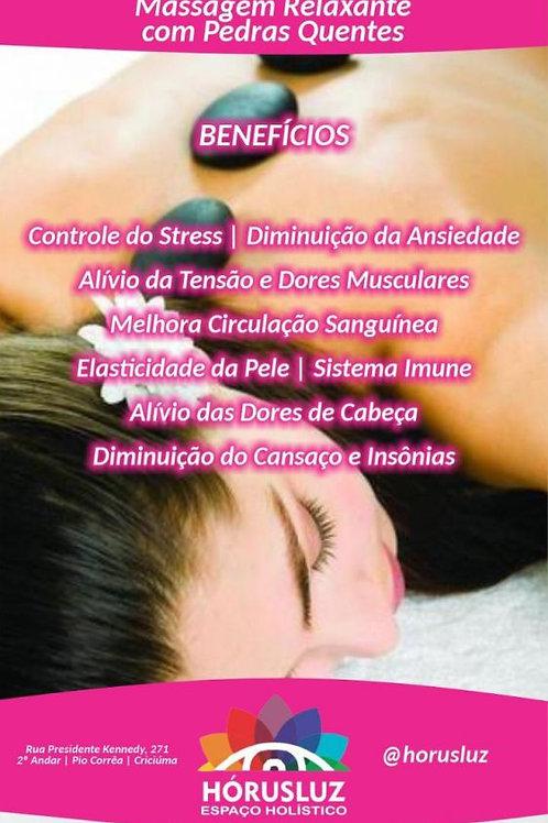 Massagem relaxante com Pedras Quentes - Hórusluz