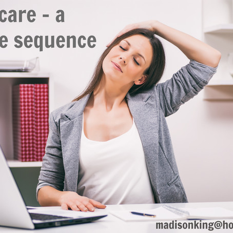 Simple sequence for neck care