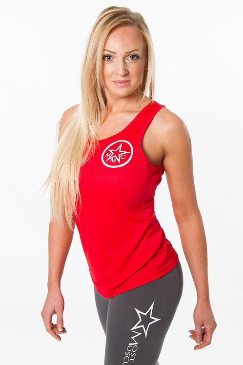 Ladies racer back gym vest
