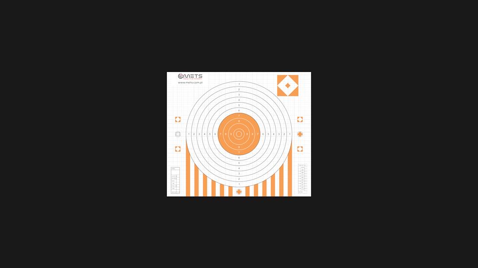 Tarcza papierowa pomarańczowa