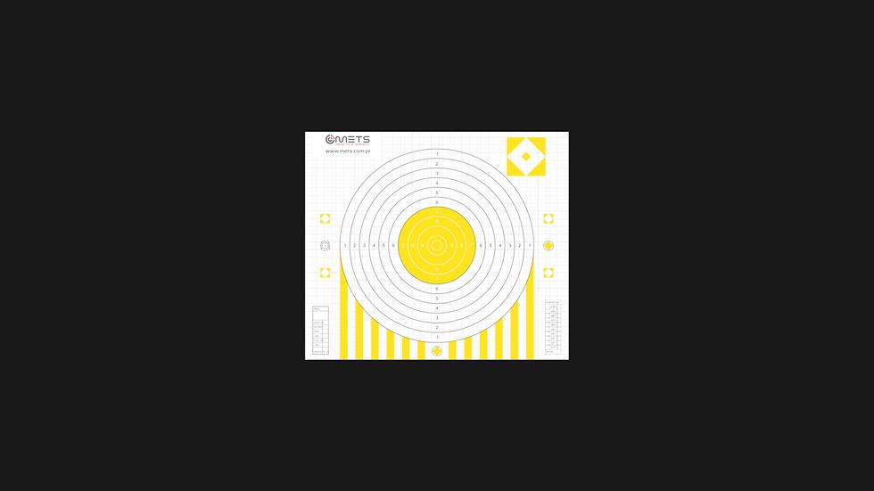 Tarcza papierowa żółta