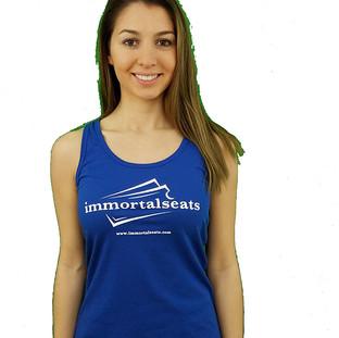 Immortal Seats Royal Blue Racerback tank