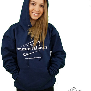 Immortal Seats Navy Blue Hoodie