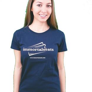 Immortal Seats Female Shirt Full Sleeve Navy Blue
